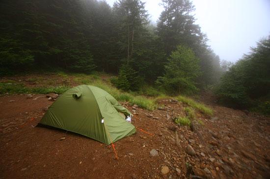 疲れてる時にテント張るの面倒だよね